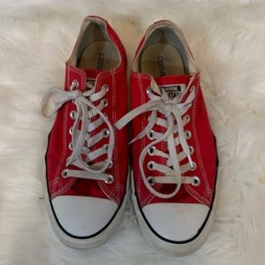 Converse all star red men's size 9 woman's 11